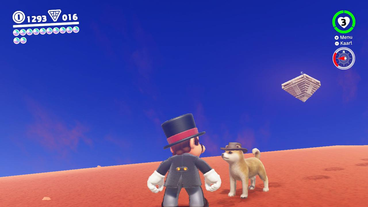 Mario and Dog desert world