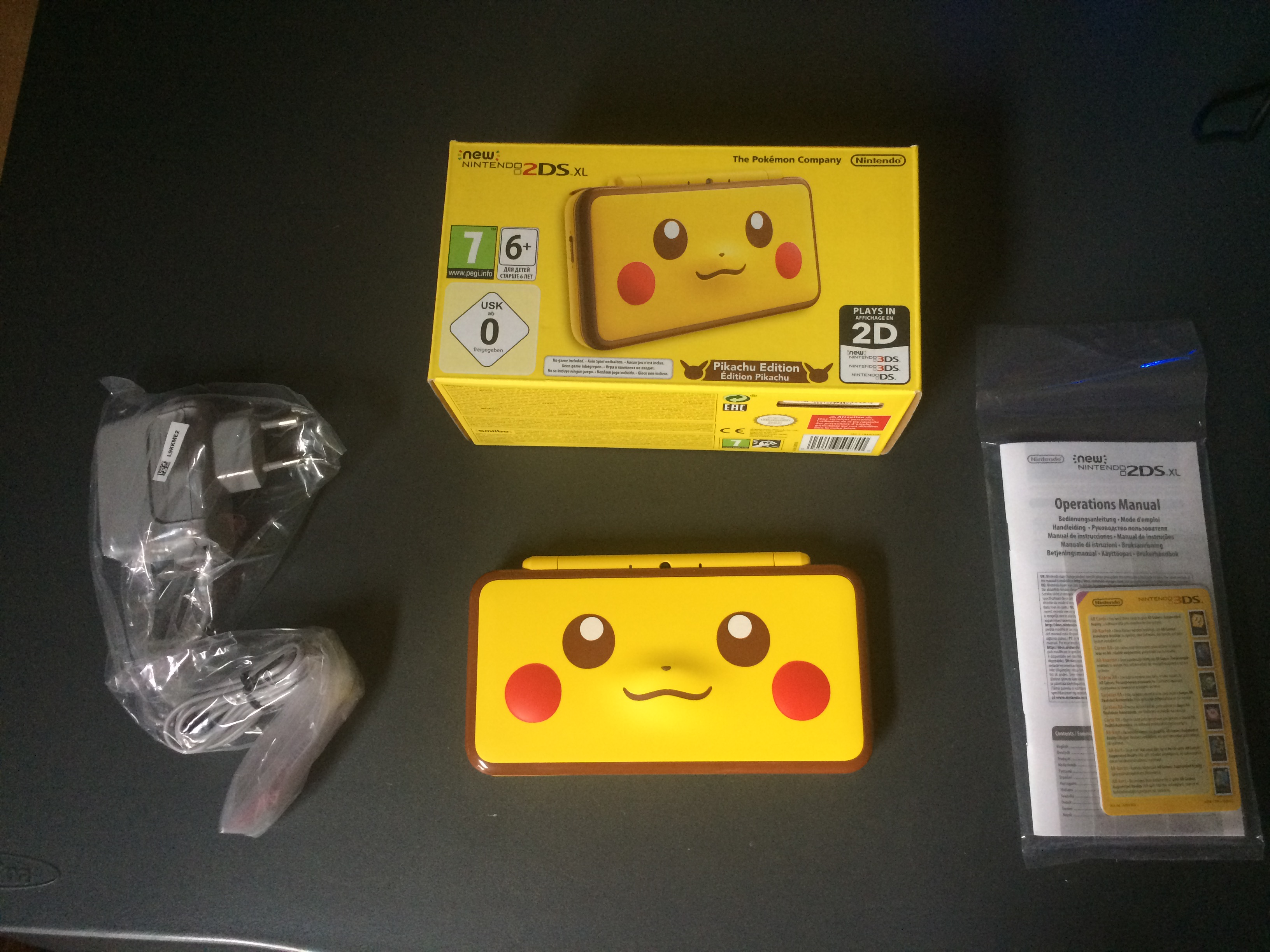 Pikachu box contents