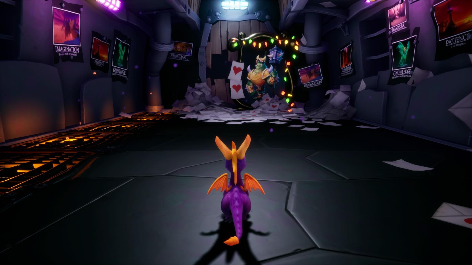 Spyro in Gnasty's loot room