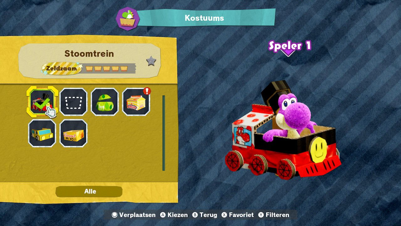 Yoshi train costume